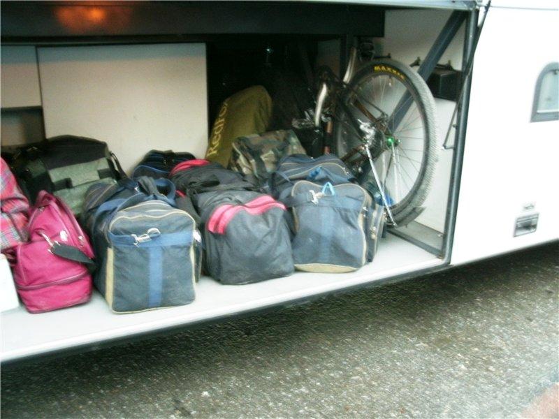 Багаж в автобусе